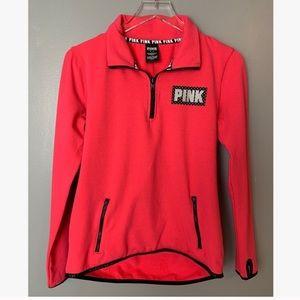 🌟 Pink Victoria Secret | Quarter Zip Pullover